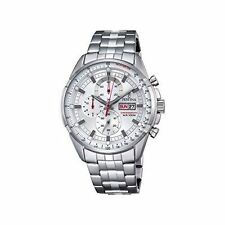 Festina Chrono Men's Quartz Watch With Silver Dial Chronograph Display and Silve