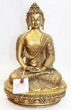 "F643 Exclusive Metal Statue of  Amitabha Buddha 12.9"" tall Hand Crafted in Nepal"