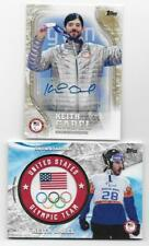 KEITH GABEL 2018 Topps U.S. Olympic AUTOGRAPH & RELIC Lot (2 Cards)
