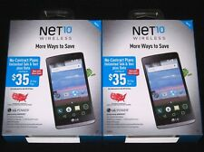 "Lot of 2x New Sealed NET10 LG POWER L22C 8GB 4.5"" Android Prepaid 3G Smartphones"