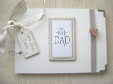 PERSONALISED NUMBER 1 DAD A5 SIZE.30 pages .. PHOTO ALBUM/SCRAPBOOK/MEMORY BOOK