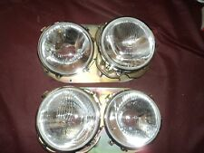 1969 80 Renault 12 Head light Lamp Bezel Trim Pair Double Sealed beam type phare