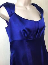 DAVID MEISTER Purple Cap Sleeve Stretch Wiggle Sheath Dress Sz 8