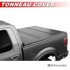 Tri-Fold Hard Solid Tonneau Cover For 2004-2017 Ford F-150 With 5.5ft / 66in Bed
