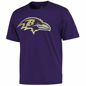 NFL T-Shirt Baltimore Ravens Football Cool Base Logo Tech Synthetic