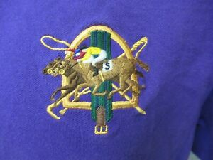 Ralph Lauren Polo purple pullover shirt Men's XL Purple embroidered Horse