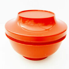 Vintage Retro 1970s Tupperware Red Serve Seal Container