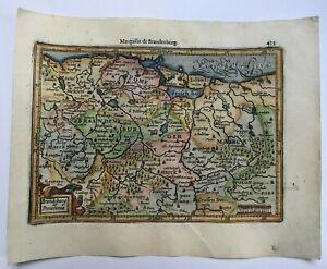POLAND GERMANY 1613 MERCATOR / HONDIUS ATLAS MINOR NICE ANTIQUE MAP 17TH CENTURY