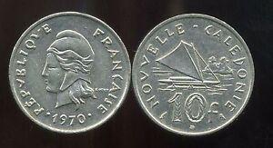 nouvelle caledonie 10  francs  1970  ( bis )