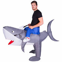 Adult Funny Inflatable Animal Shark Fancy Dress Costume Outfit Suit Halloween
