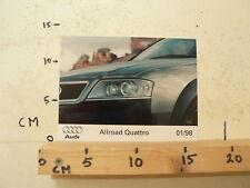 AF084-PHOTO FACTORY ? AUDI ALL ROAD QUATRRO 1/98
