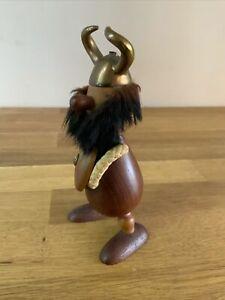 Vintage Gonk Carl Bent Denmark Bottle Opener Viking Brass Wood Man cave