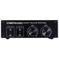 2 IN 2 OUT Audio Balanced Passive Preamp Pre-Amplifier, Volume Controller
