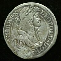 1621 AUSTRIA LEOPOLD 6 KREUZER SILVER MEDIEVAL COIN - GREAT CONDITION