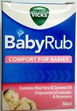 Vicks BabyRub (VapoRub) Soothing Vapour Ointment comfort for Babies 50 ml 1.69oz
