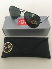 New Ray Ban RB3025 L2823 Aviator Black Frame Green Lenses Sunglasses 58mm