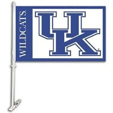 Kentucky Wildcats - NCAA Car Auto Flags - 2 Pack Set - Free Wall Bracket - UK