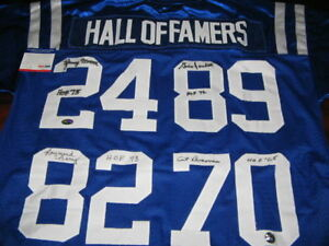 ART DONOVAN,LENNY MOORE,RAYMOND BERRY,GINO MARCHETTI COLTS PSA/DNA SIGNED JERSEY