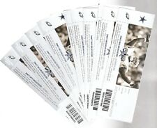 2010 NFL PHILADELPHIA EAGLES @ COWBOYS FULL UNUSED FOOTBALL TICKETS - LOT OF 10