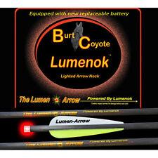 "Burt Coyote Lumenok 20"" Carbon Bolt w/ Red Flat End 3pk #00030 BECF3 Crossbow"