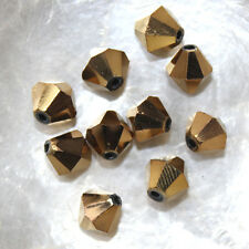 10 Perles Cristal -TOUPIES SWAROVSKI - COPPER   - 8 mm