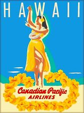 Hawaii Canadian Pacific Airlines Vintage Travel Advertisement Art Poster Print