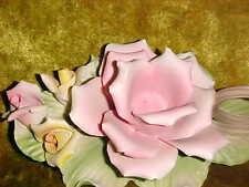 Vintage Capodimonte TYPE  Centerpiece Flower Candle holder, pastels UP
