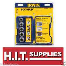 "Irwin 394001 Bolt Grip 5pc Base Set 10-16mm 3/8-5/8"" removes damaged nuts/bolts"