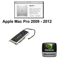 Apple Mac Pro nVidia Quadro 4000 2GB PCIE Graphics Video Card DVI DP 2008 - 2012