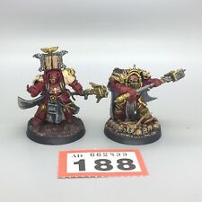 WARHAMMER 40,000 SPACE MARINE HEROES TERMINATOR CAPTAIN AND LIBRARIAN PAINTED