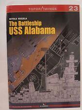 Kagero Book: The Battleship USS Alabama - Topdrawings 23 - Line Drawings