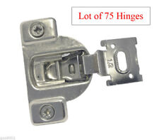 "75 Face Frame Nickel Cabinet Hinges Euro Concealed 1/2"" Open 110 Degree 35mm Cup"