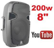 """DIFFUSORE AMPLIFICATO MONITOR SPIA DJ 200W WOOFER 8"""" (21cm) CASSA ALTOPARLANTE"""