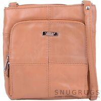 Ladies / Womens Genuine Leather Shoulder / Cross Body Bag with Adjustable Strap