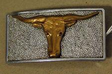 "Texas Longhorn Belt Buckle 1.5"" by 3"" Jewelry, Ornament, Novelty, Curiosity"