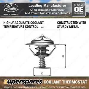 Gates Coolant Thermostat + Gaskets & Seals for Nissan Pathfinder R51 YD25D DTi