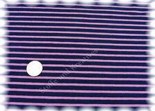 Campan Baumwoll Jersey Hilco dunkelblau rosa Streifenjersey 50 cm Streifenstoff