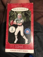 Joe Namath Football Legends Hallmark Collector Series Christmas Ornament New