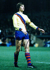 Johan CRUYFF Signed Autograph BARCELONA FOOTBALL Legend 16x12 Photo AFTAL COA