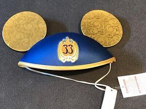 Disneyland CLUB 33 Le Salon Nouveau Mickey Mouse Ears 65th Anniversary