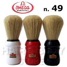 Pennello barba OMEGA n.49 professionale in setola manico nero rosso o bianco
