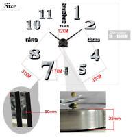 Large Wall Clock Big Watch Decal 3D Stickers Roman Wall Numerals DIY Modern J4A7