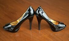 "Ted Baker HALESIA Women US Size 9 Black Patent Leather Peep Toe 5"" Heels Shoes"
