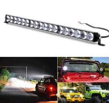 180W Car LED Work Light Bar 4D Lens 20inch Single Row Slim 18000LM Spot Beam