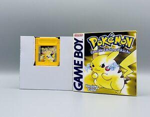 Pokémon Giallo Edizione Speciale Pikachu Box Repro E Cartuccia Originale 1998