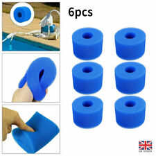 More details for 6pcs for intex pure spa reusable washable foam hot tub filter cartridge s1 type