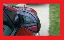 2 Piece Side Mirror Smoke Tinted Rain Visors For Mitsubishi Models