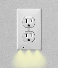 2 Pack: iTD Gear Wall Outlet Coverplate w/ LED Night Lights (Auto on/off)