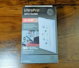 GE UltraPro GFCI Outlet 20 AMP Ground Fault Circuit Interrupters