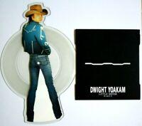 NM/NM Dwight Yoakum Little Sister Shaped Vinyl Picture Disc + Plinth